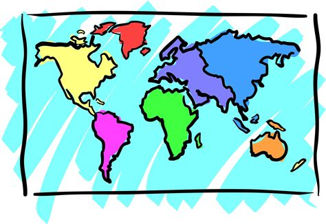 clipart of map map clipart world pencil and in color map clipart