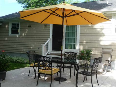 patio furniture sets with umbrella outdoor umbrella patio set stand and table