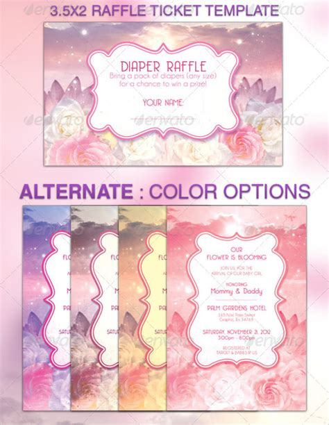 ticket templates for photoshop sle raffle ticket template 20 pdf psd illustration