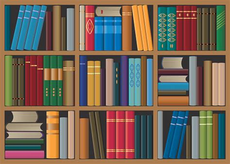 bookshelf clip vector images illustrations istock
