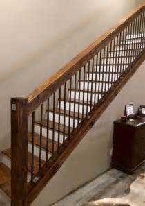banister railing installation 1000 ideas about stair handrail on stainless