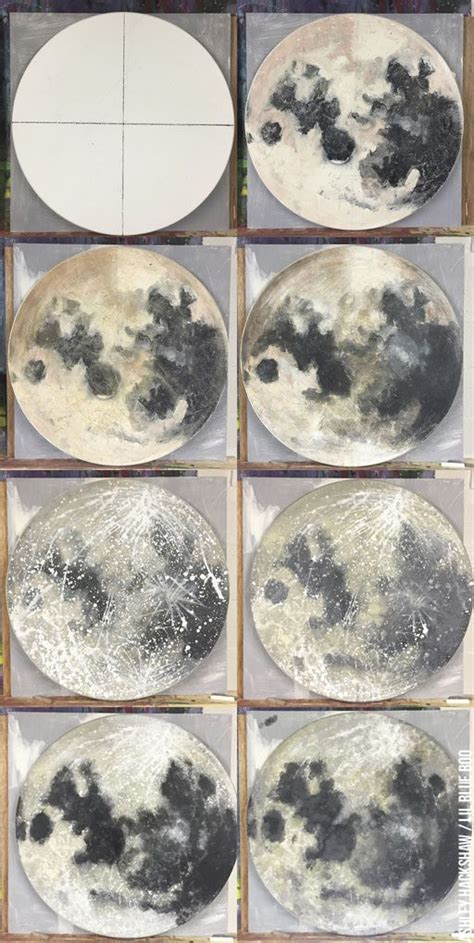 watercolor moon tutorial moon painting tutorial using acrylic paint and sponge