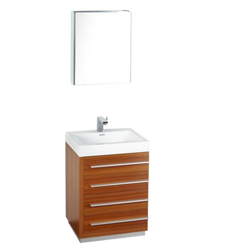 Bathroom Vanity Cabinets 24 Inches 24 Inch Teak Modern Bathroom Vanity With Medicine Cabinet Uvfvn8024tk24