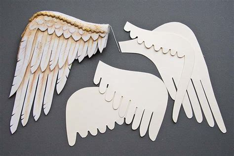 How To Make Bird Wings Out Of Paper - foam and felt and wings antique lilac