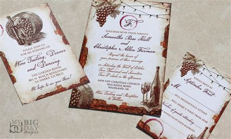 new for 2017 vintage winery wedding invitation set vinyard themed wedding invitations vintage - Vintage Themed Wedding Stationery