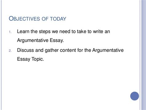 Steps In Writing An Argumentative Essay by Steps Of Argumentative Essay
