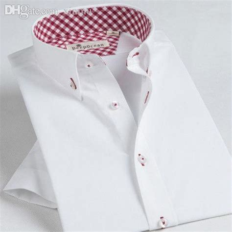 shirt pattern inside collar best wholesale lattice pattern inside collar pure color