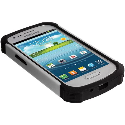 Matte Black All Tipe Samsung For Samsung Galaxy S3 Mini Rugged Hybrid Matte Cover
