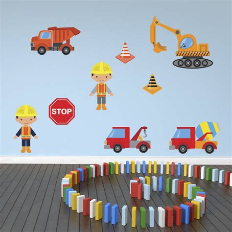 wall stickers boys boys construction site wall stickers pack by mirrorin