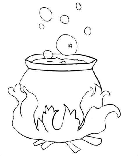 witch cauldron coloring page witches cauldron redgage
