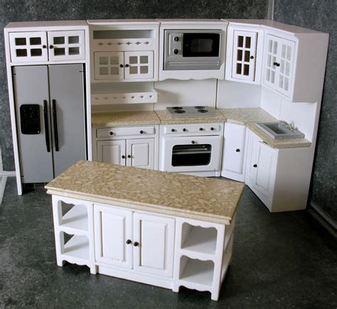 dolls house kitchen furniture dolls house miniature fitted kitchen furniture set white