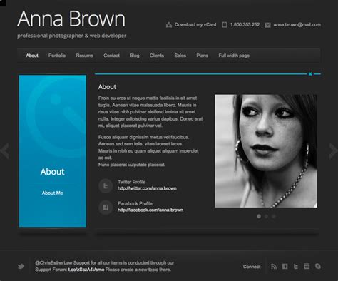 Website Resume by Resume Website Resume Website Template Cv Curriculum Vitae