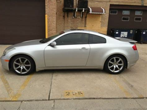 infiniti g35 coupe silver buy used 2004 infiniti g35 coupe silver excellent