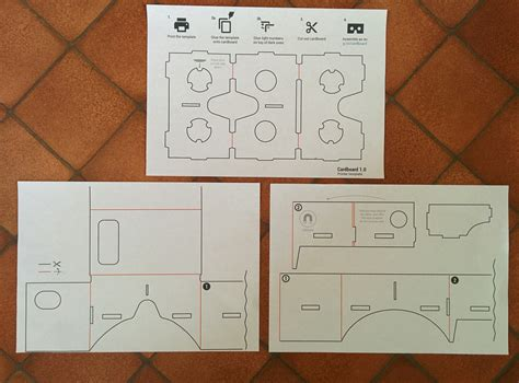 Making Google Cardboard Scratchdiamond Vr Template Printable