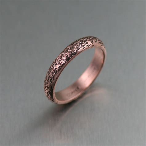 texturized copper ring