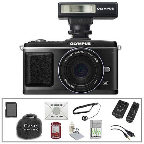 Olympus E P2 Hitam Kit 17mm olympus e p2 pen digital with 17mm lens flash b h