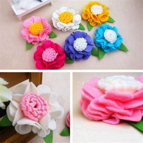 aliexpress buy newborn cotton winter baby fall hair accessory diy felt ruffle flower