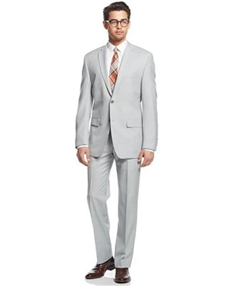 light grey slim fit suit alfani light grey slim fit suit separates suits