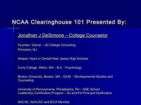 ncaa clearing house jdcc ncaa clearinghouse