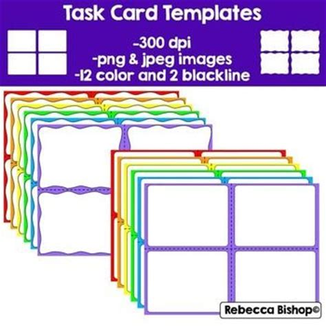 free task cards task cards and card templates on pinterest