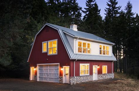 red barn house exterior traditional  standing seam roof traditional standard height outdoor