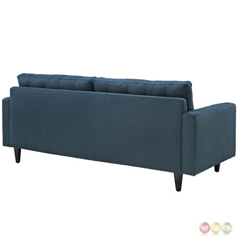 contemporary tufted sofa empress contemporary button tufted upholstered sofa azure