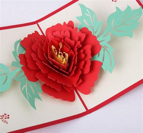 Origami Flower Pop Up Card - compare prices on origami wedding favors shopping