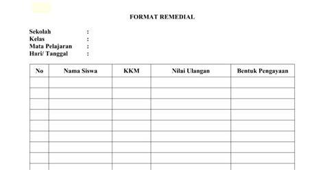 format buku remedial format remedial dan pengayaan kurikulum 2013 dan ktsp doc
