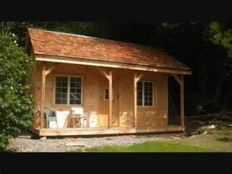 16x20 vermont cottage kit rough sawn post and beam youtube