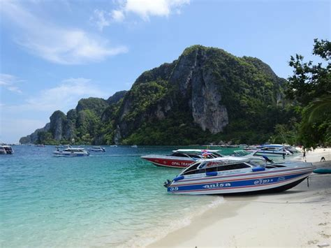 boat from phi phi to krabi krabi full day phi phi island tour by speed boat