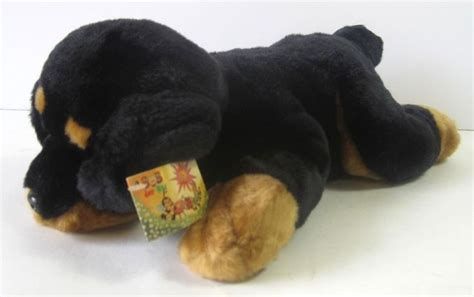 rottweiler stuffed animals rottweiler plush 14 quot stuffed animal made in germany black brown new