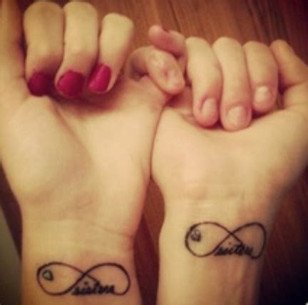 sister tattoos on wrist get matching infinity tattoos on wrist