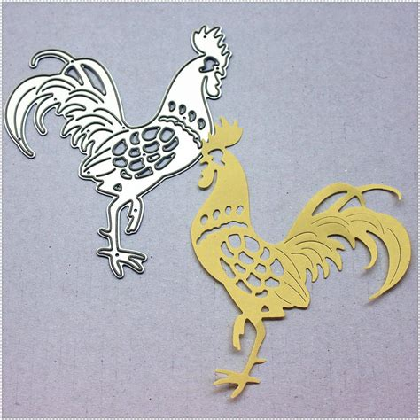 diy new year paper cutting ᗑpanfelou metal craft mighty mighty rooster paper die