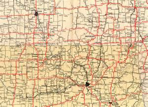 road map of and oklahoma 1932 texaco highway map of southern kansas and northern