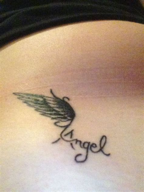 angel wings small tattoo celebraries with tatoo wing for my guardian
