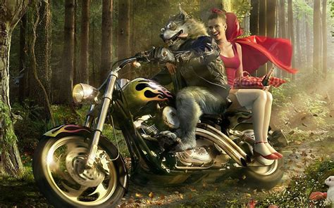 harley wolf for two wolf rotk 228 ppchen kunstwerk harley 3d 1920x1080