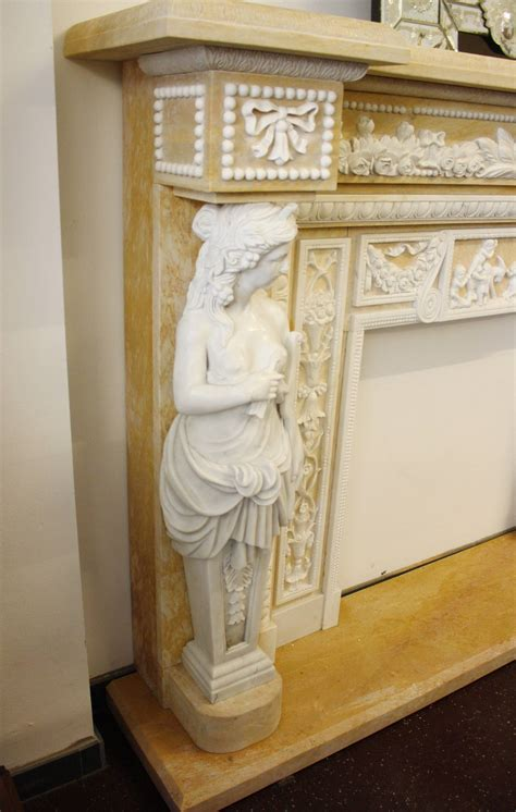 Marble Fireplace Mantels For Sale by Monumenatl Marble Fireplace Mantel For Sale At 1stdibs