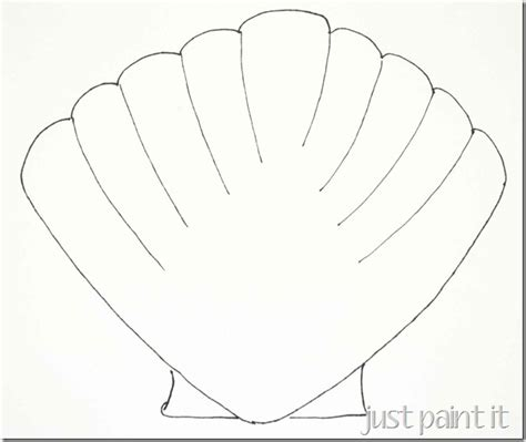 seashell template seashell and starfish pattern printables just paint it