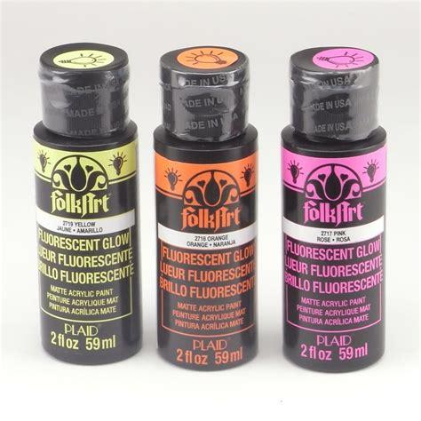 folk acrylic paint ingredients folkart acrylic paint uv glow colours bundle craftyarts
