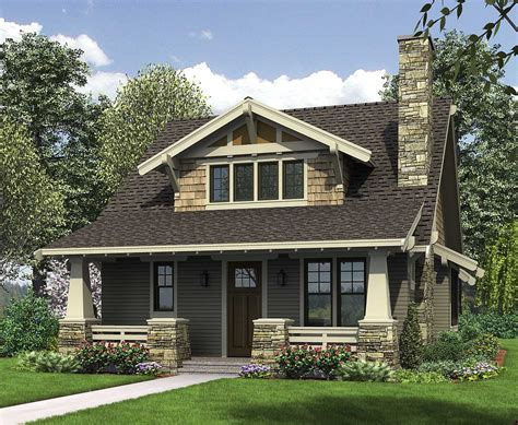 house plans with front and back porches bungalow with open floor plan loft 69541am 1st floor