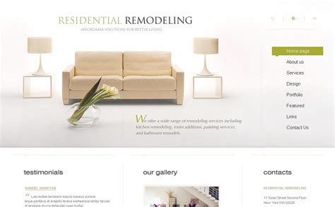 home remodeling website template 20003