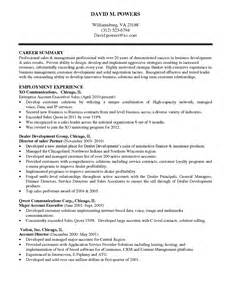 Resume Summary Exle Manager Sales Resume Richmond Va Sales Sales Lewesmr