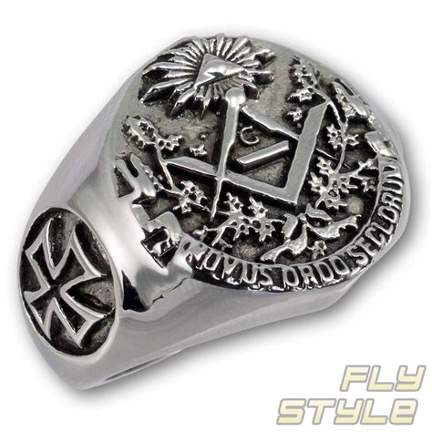 illuminati ring signet ring stainless steel masonic illuminati freemason