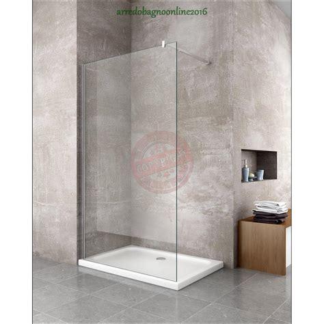 parete fissa doccia walk in parete doccia fissa lato fisso 100 vetro 8 mm