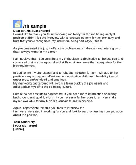 Thank You Letter After Questions 8 Thank You Letters Free Sle Exle Format Free Premium Templates