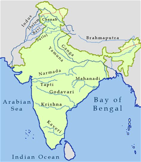 5 major rivers world map facts about major rivers of india quickgs