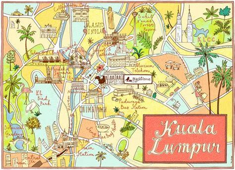 kuala lumpur map tourist attractions best 25 kuala lumpur map ideas on map of