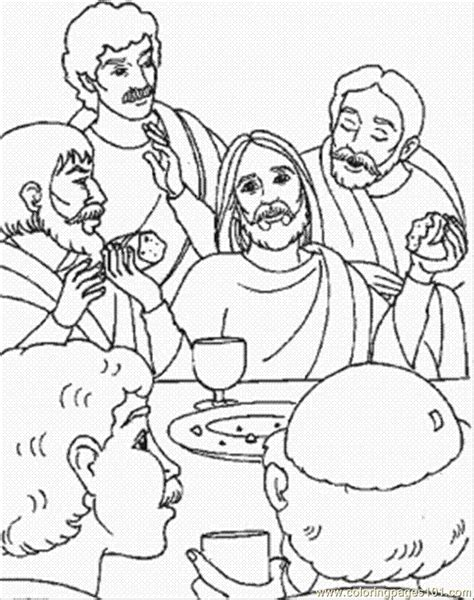 coloring pages last supper of jesus other gt religions