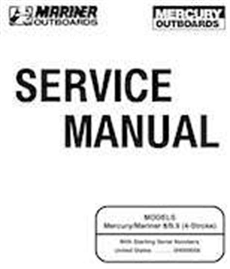 Mercury Mariner 8 9 9hp 4stroke Factory Service Manual