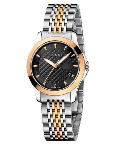 Gc Guci Collection gucci s swiss g timeless two tone stainless steel